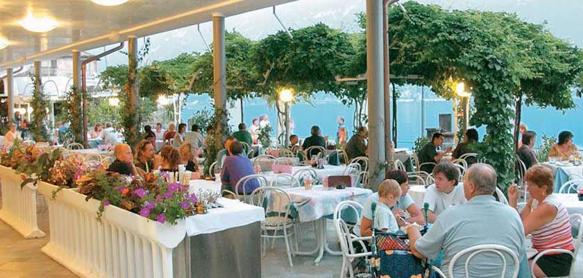 Hotel All'Azzurro, Limone, Lake Garda, Italy, - outdoor restaurant.jpg
